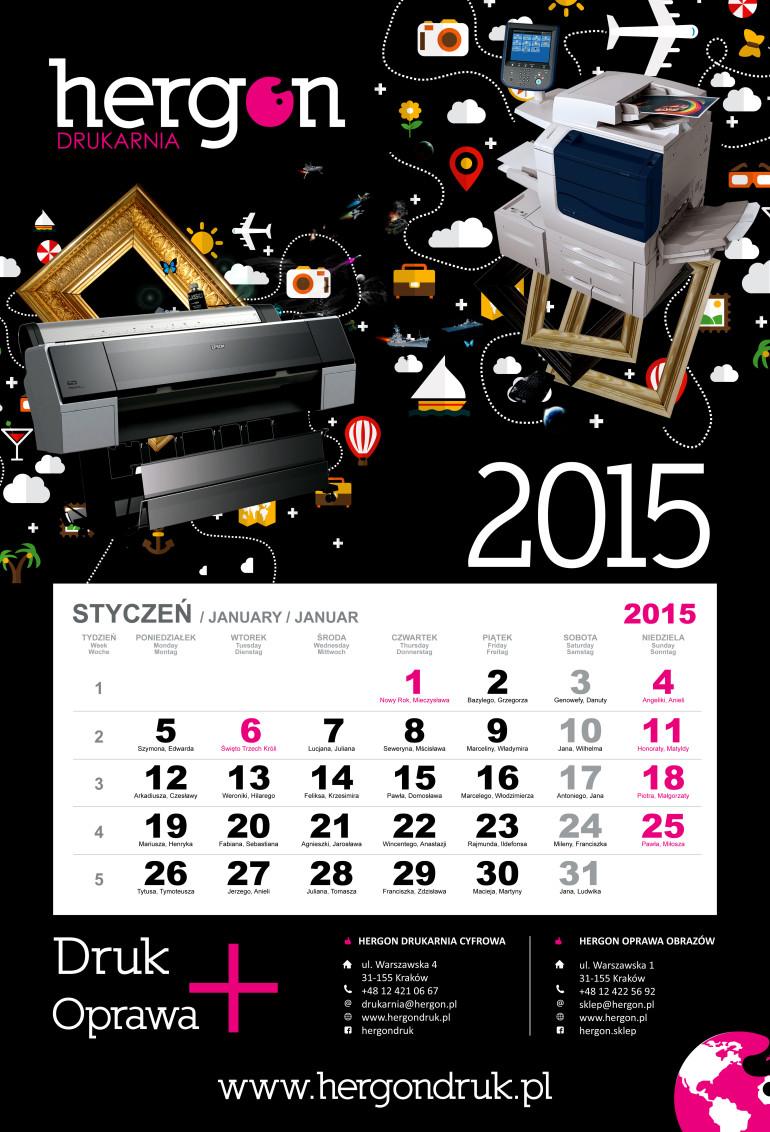 Kalendarz 2015 ekonowmiczny