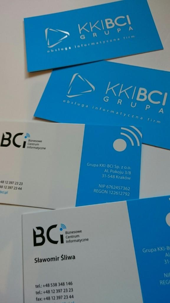 Wizytówki na Kredzie 350g z folią matową i lakierem wybiórczym UV dla KKI-BCI www.okiart.pl projketowanie wizytowki 14