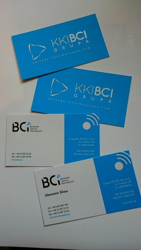 Wizytówki na Kredzie 350g z folią matową i lakierem wybiórczym UV dla KKI-BCI www.okiart.pl projketowanie wizytowki 15