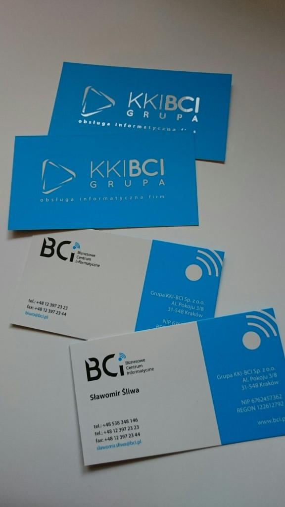 Wizytówki na Kredzie 350g z folią matową i lakierem wybiórczym UV dla KKI-BCI www.okiart.pl projketowanie wizytowki 16