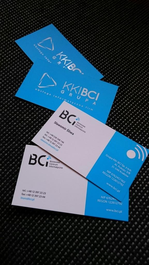 Wizytówki na Kredzie 350g z folią matową i lakierem wybiórczym UV dla KKI-BCI www.okiart.pl projketowanie wizytowki 20