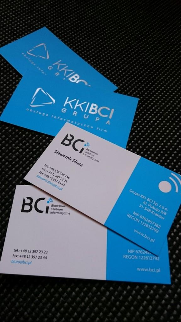Wizytówki na Kredzie 350g z folią matową i lakierem wybiórczym UV dla KKI-BCI www.okiart.pl projketowanie wizytowki 22