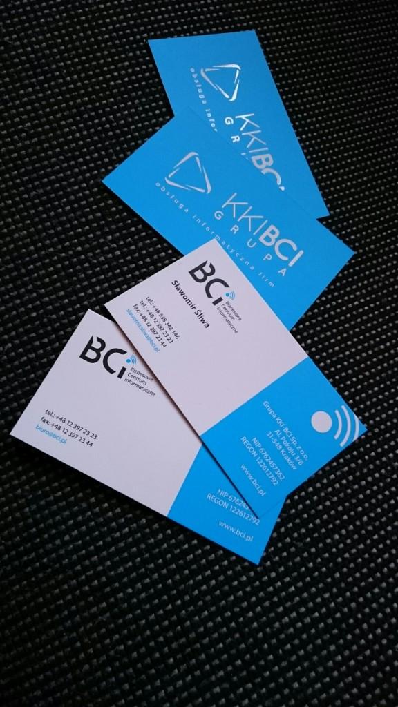 Wizytówki na Kredzie 350g z folią matową i lakierem wybiórczym UV dla KKI-BCI www.okiart.pl projketowanie wizytowki 25
