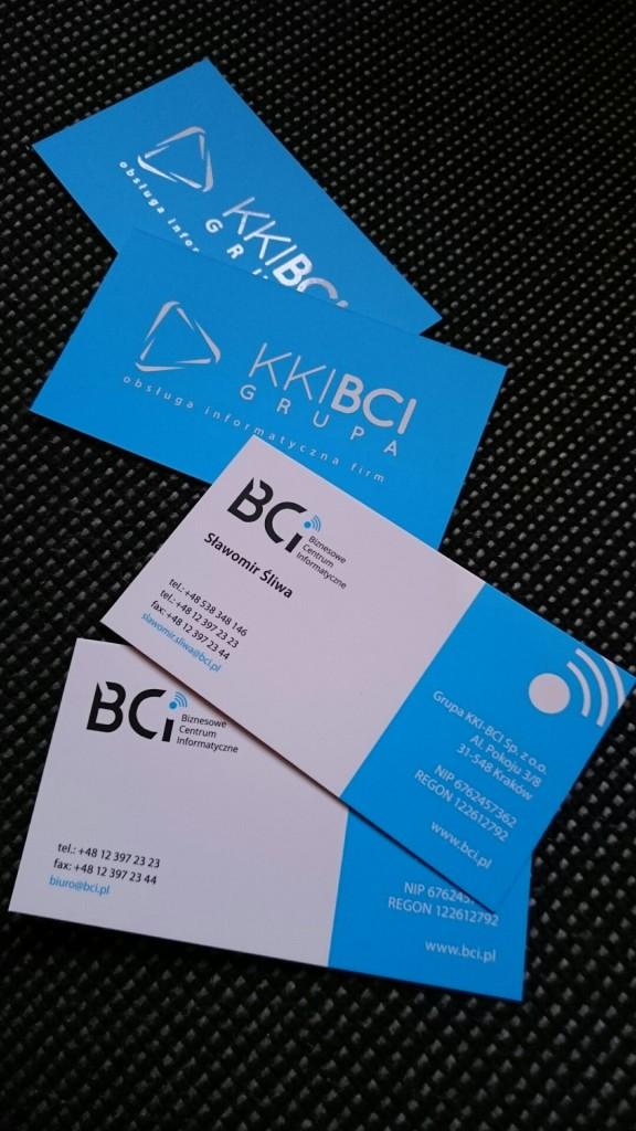 Wizytówki na Kredzie 350g z folią matową i lakierem wybiórczym UV dla KKI-BCI www.okiart.pl projketowanie wizytowki 27
