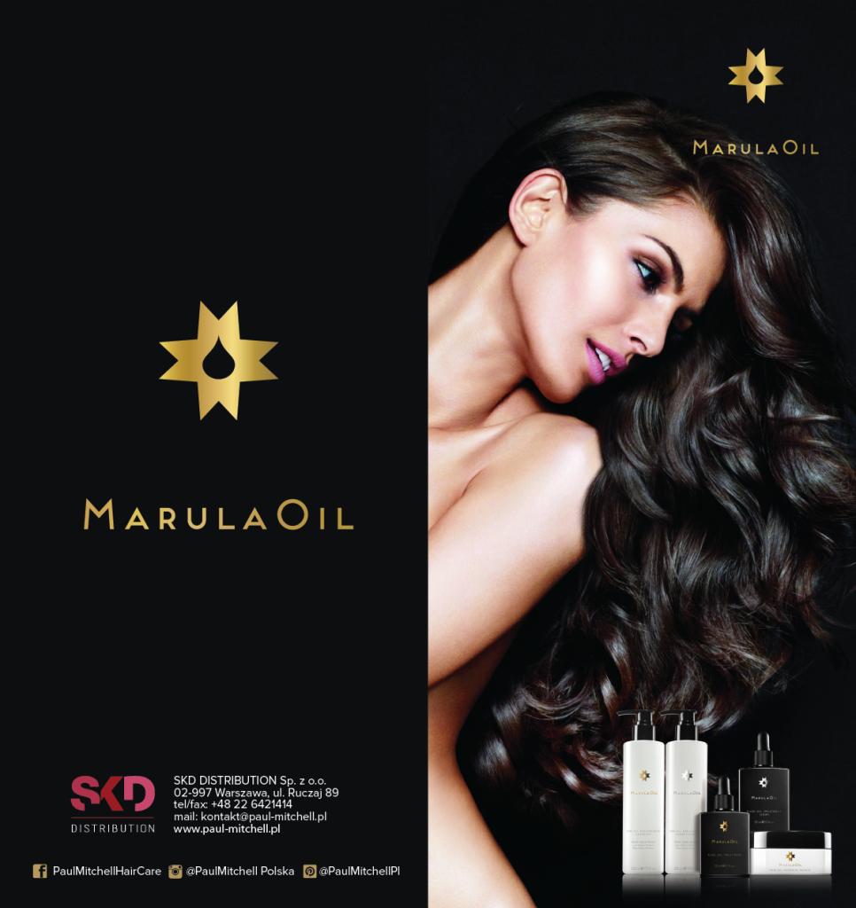 projekt ulotki reklamowej 2xdl składanej do dl MarulaOil 2xdk-01