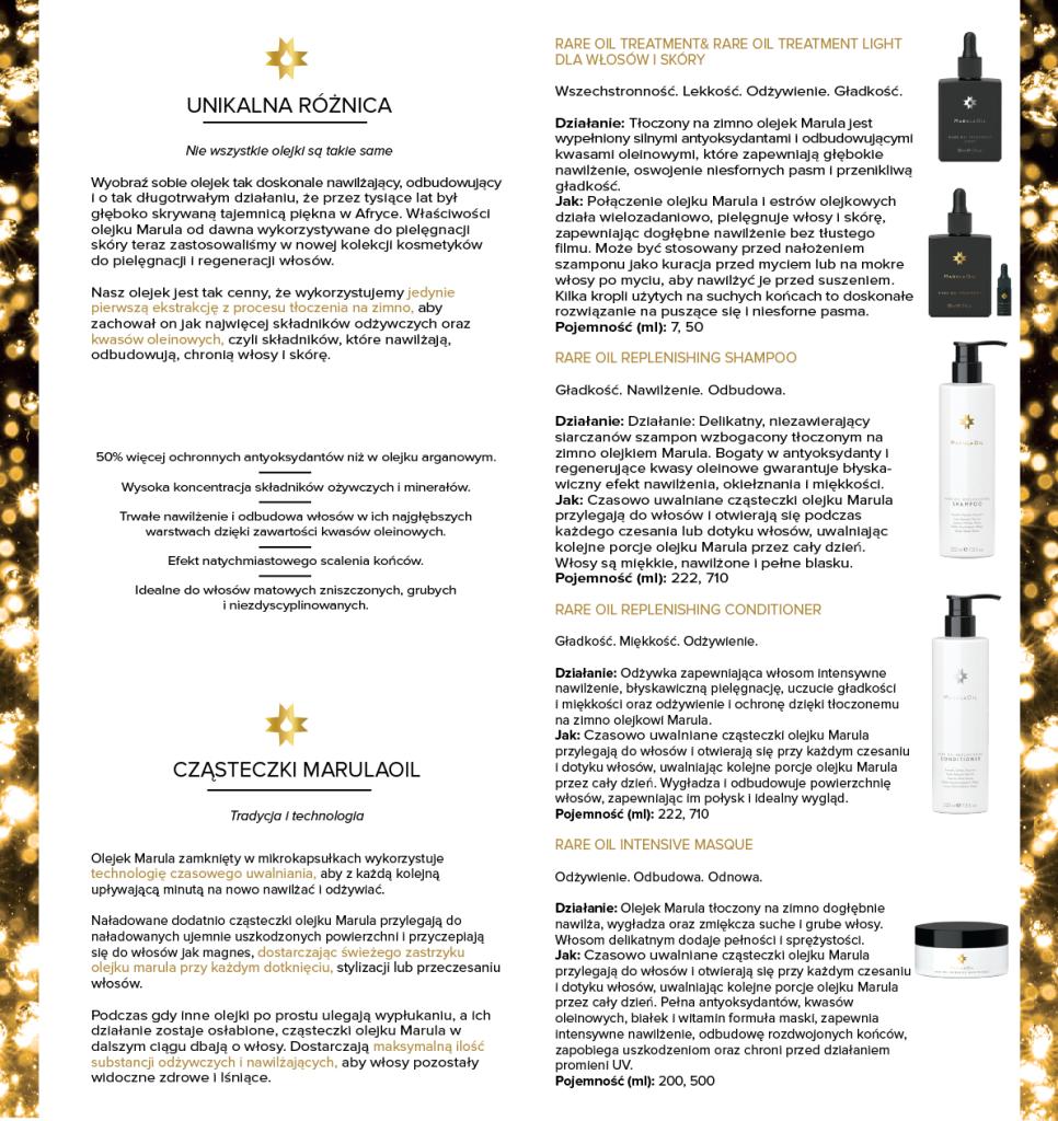 projekt ulotki reklamowej 2xdl składanej do dl  MarulaOil 2xdk-02